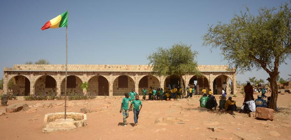 Das von Jigiya Bon finanzierte Schulgebäude in Boro.