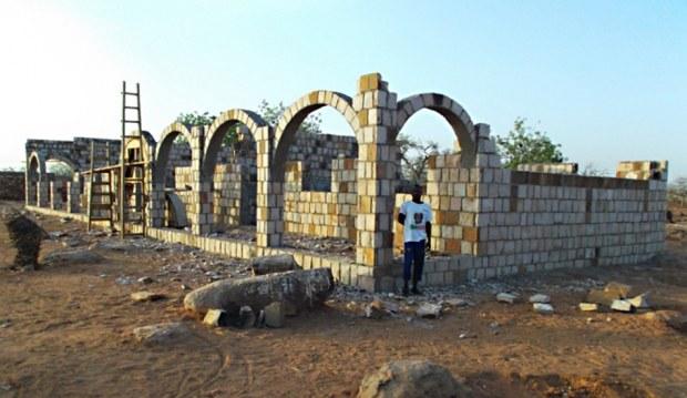 Neubau der Klassenräume in Boro.
