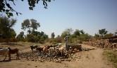 Der bisherige Brunnen außerhalb des Dorfes