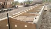 Dachstuhl im Aufbau