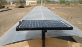 Probeaufbau, komplett mit Solarmodul