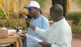 Der Koordinator Youchaou Traoré bedankt sich.