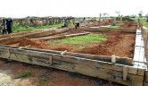 Baustelle der neuen Schule in Youré