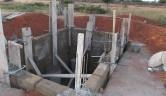 Bau der Toilettengrube