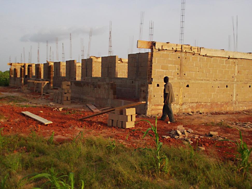 Bauarbeiten in Barbé Plateau
