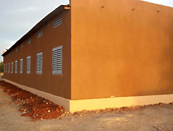 Das neue Schulgebäude in Barbé Plateau