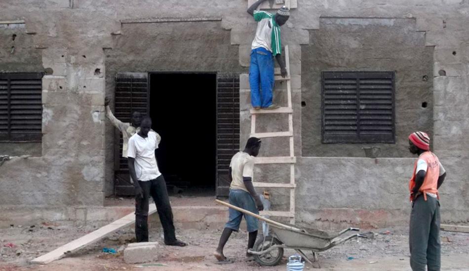 Während der Bauarbeiten in Barbé Plateau